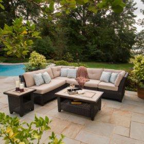 Avondale  Piece Sectional Seating Set With Premium Sunbrella