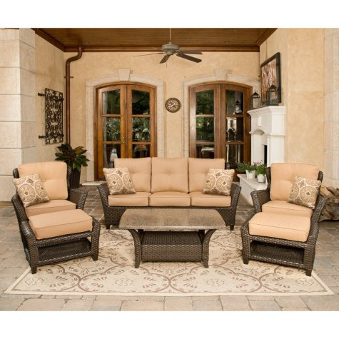 Vermont Outdoor Deep Seating Set - 6 pc.