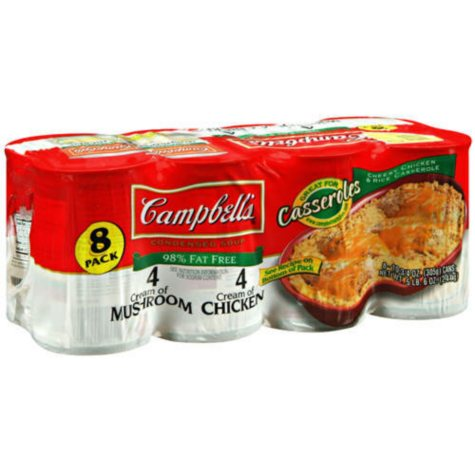 Campbell's Reduced Fat Condensed Soup Variety Pack (10.75 oz. cans, 8 pk.)