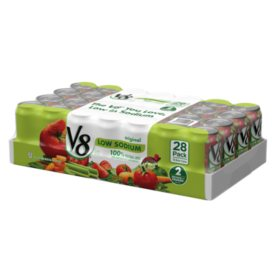 V8 Original Low Sodium Vegetable Juice (11.5 oz. cans, 28 ct.)