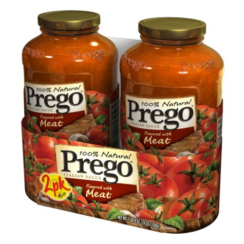 Prego Flavored with Meat Italian Sauce - 2 pk. - 67 oz.