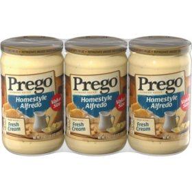 Prego Homestyle Alfredo Sauce (22 oz., 3 pk.)