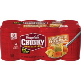 Campbell's® Chunky™ Classic Chicken Noodle Soup (18.6 oz., 8 pk.)