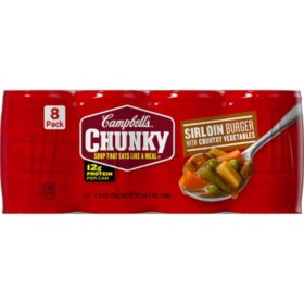 Campbell's® Chunky™ Sirloin Burger with Country Vegetables Soup (18.8 oz., 8 pk.)