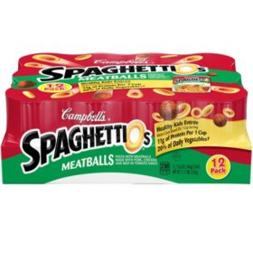 Campbell's SpaghettiOs Canned Pasta with Meatballs (15.6 oz., 12 pk.)