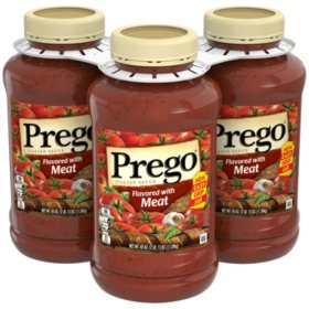 Prego Italian Flavored Meat Sauce (45 oz., 3 pk.)