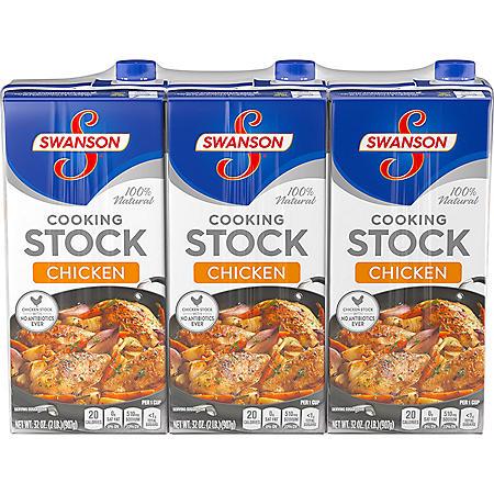 Swanson Chicken Stock (32 oz., 3 pk.)