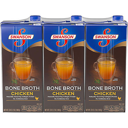 Swanson Bone Chicken Broth (32 oz., 3 pk.)