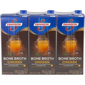 Swanson Bone Chicken Broth (32 oz., 3 pk.)