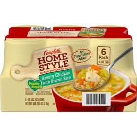 Campbell's Homestyle Healthy Request Savory Chicken with Brown Rice Soup (18.6 oz., 6 pk.)