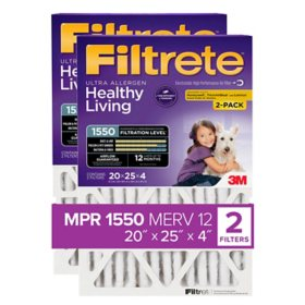 "Filtrete Allergen Reduction Filter for 4"" Housings, 20"" x 25"" x 4"" (2 Pack)"