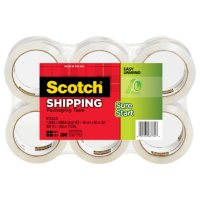 "Scotch 3500 Packaging Tape, 1.88"" x 54.6yds, 3"" Core, Clear, 6pk."