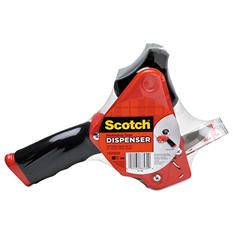 "Scotch - Pistol Grip Packaging Tape Dispenser, 3"" Core, Metal -  Red"