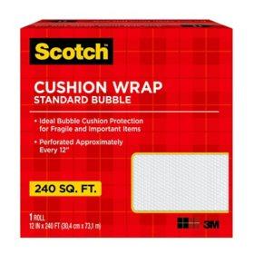 """Scotch Cushion Wrap Dispenser Box, 12"""" x 240' Roll, 240 sq. ft."""