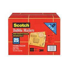 """Scotch Bubble Mailers, size 0, 6"""" x 9"""", 25pk."""