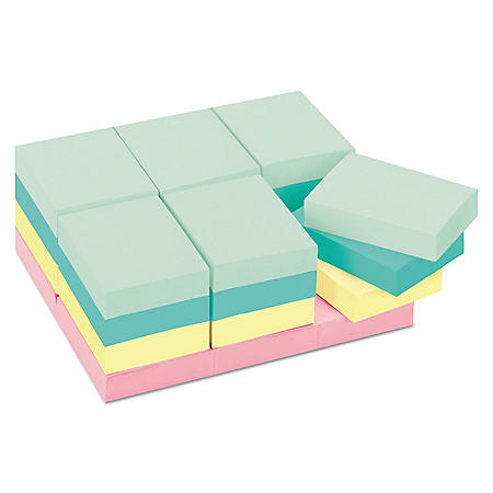 "Post-it Notes Original Pads in Marseille Colors, Value Pack, 1-1/2""x2""x24/PK, 24/Pack"