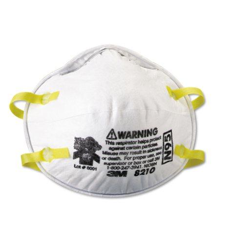 3M Lightweight Particulate Respirator 8210,N95, 20 Pack
