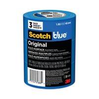 "Scotch - Painter's Masking Tape, 2"" x 60 yards, 3"" Core, Blue -  3/Pack"