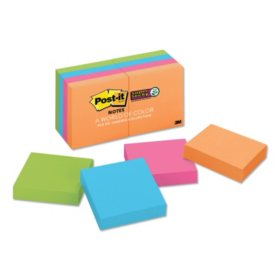 Post-it Notes Super Sticky Pads in Rio de Janeiro Colors, 2 x 2, 90-Sheet Pads, 8/Pack