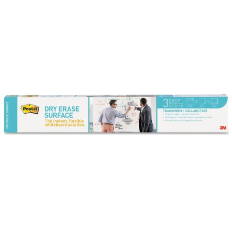 Post-it - Dry Erase Surface with Adhesive Backing, 36 x 24 -  White