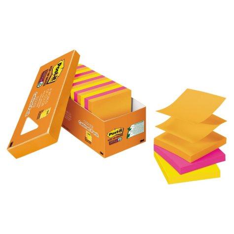 "Post-it Pop-up Super Sticky Notes, 3"" x 3"" Refill, Rio de Janeiro Colors, 90 Sheets/Pad, 8 pk."