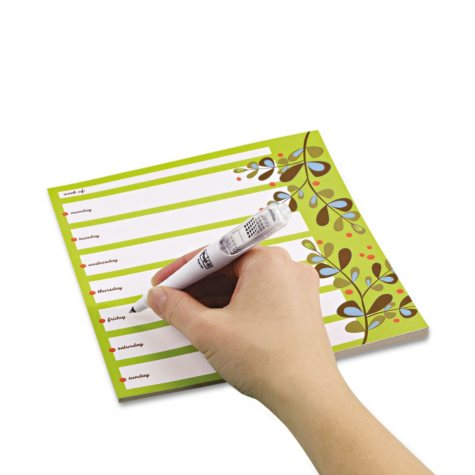 Post-it - Super Sticky Notes Weekly Planner - 7 x 8 - 26 Sheets/Pad - 1 Pad/Pack
