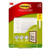 Command Large Picture Hanging Strips Club Pack, White, 24 Pairs