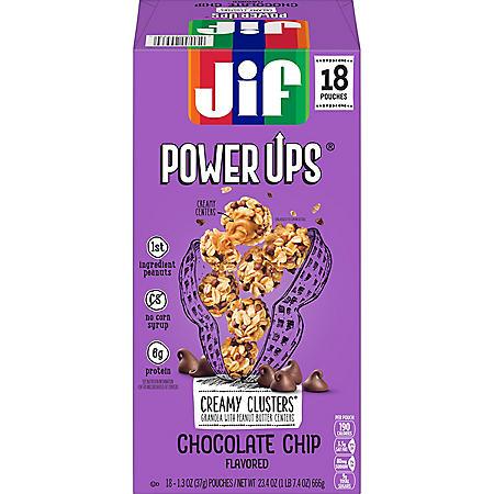 Jif Power Ups Granola Clusters, Chocolate Chip (18 pk.)