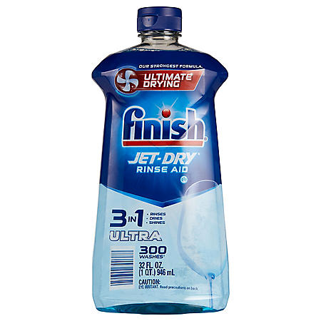 Finish Jet-Dry Ultra Rinse Aid Dishwasher Rinse Agent and Drying Agent (32 oz.)