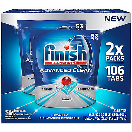 Finish Advanced Clean Dishwasher Detergent Tabs (106 ct.)