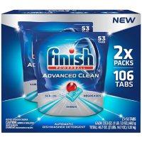 Finish Advanced Clean Dishwasher Detergent Tabs (106 ct.)