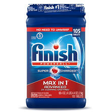 Finish Max in One Advanced  Dishwasher Detergent Powerball Tabs (105 ct.)