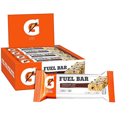 Gatorade Prime Fuel Bars, Chocolate Chip (2.1 oz., 12 ct.)