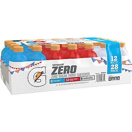 Gatorade Zero 3 Flavor Variety Pack (12 fl. oz., 28 pk)