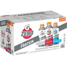 Gatorade G Zero with Protein Variety Pack (16.9 fl. oz. 15 pk.)