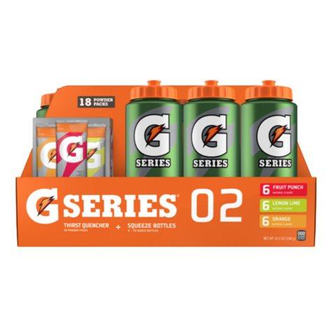 Gatorade Sport Powder Pack with Squeeze Bottles