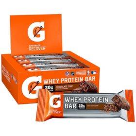 Gatorade Whey Protein Recover Bars, Chocolate Chip (2.8 oz., 12 ct.)
