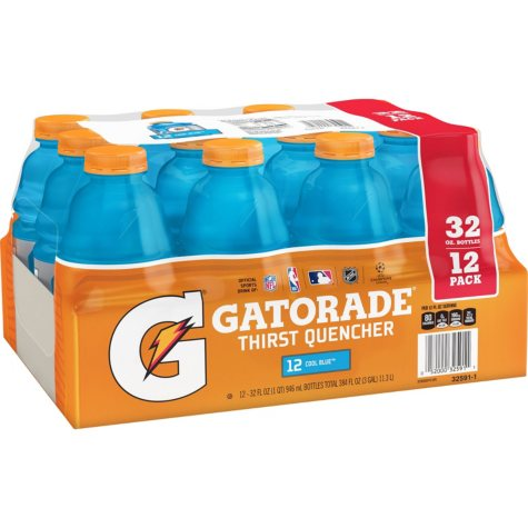 Gatorade Cool Blue, 32oz. (12pk.)
