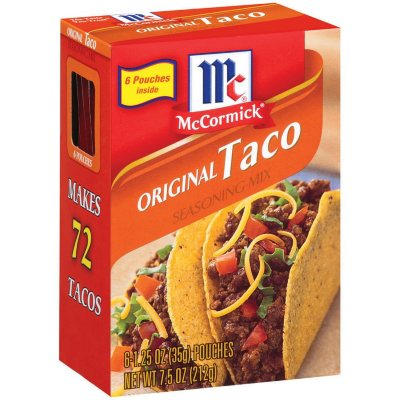 Mccormick Original Taco Seasoning Mix 6 1 25 Oz Sam S Club