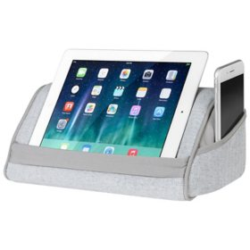 LapGear Microbead Tablet Pillow Stand with Phone Pocket, Fits Most Tablet Devices, Assorted Colors