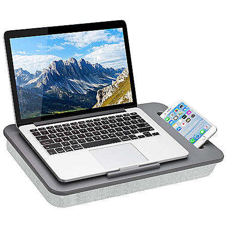 """LapGear Sidekick Lap Desk with Device Ledge and Phone Holder, Fits up to 15.6"""" Laptops, Assorted Colors"""