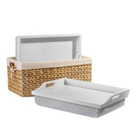 "Rossie Home Lap Tray with Basket Set, Fits up to 15.6"" Laptops, Assorted Styles"