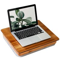 Rossie Home Acacia Wood Easel Lap Desk with Storage, Natural