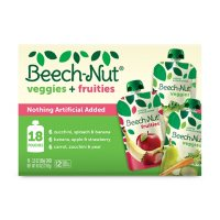 Beech-Nut Veggies and Fruities Stage 2 Baby Food, Variety Pack (3.5 oz. pouch, 18 ct.)