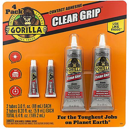 Gorilla Clear Grip, 4 Pack