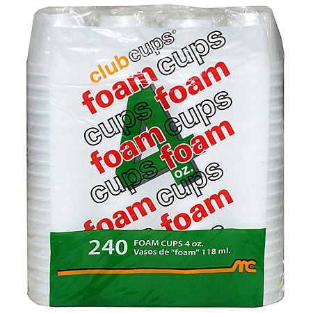 Club Cups Foam Cups (240 ct./4 oz.)
