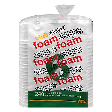Club Cups® 6 oz. Foam Cups - 240 ct.