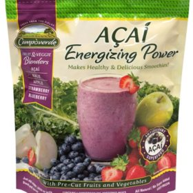 Campoverde Fruit and Veggie Blenders With Acai Energizing Power, Frozen (60 oz.)