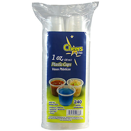 Cheers Plastic Cups (240 ct./1 oz.)