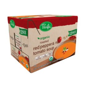 Pacific Roasted Red Pepper & Tomato Soup (8 oz. carton, 12 ct.)
